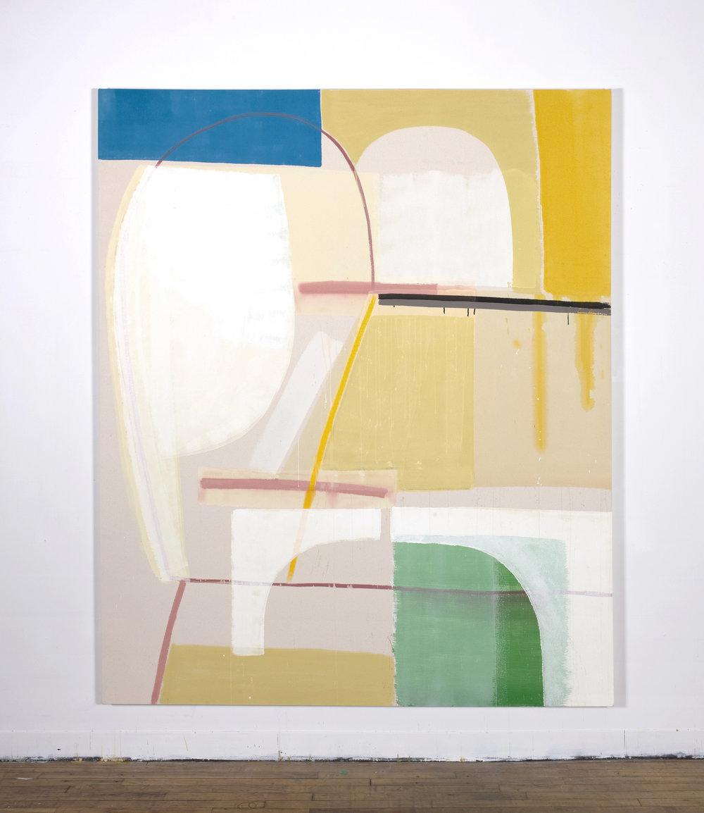 "Falling Apart, 84""x70"", on raw canvas, $9500"
