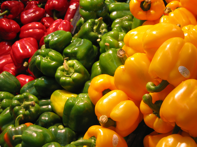 BAKED BELL PEPPER TACOS   INGREDIENTS 4 large bell peppers 3-4 cups taco filling (see below) 3/4 cup shredded cheese, extra as desired 3/4 cup chopped tomato 3/4 cup chopped lettuce Cilantro and lime, as a tasty edible garnish FEISTY FILLING OPTIONS: a. 1lb ground beef, chicken, or turkey - seasoned your favorite way and browned on the stove-top! I use a combination of enchilada sauce (homemade or store bought) and homemade taco seasoning to flavor mine, plus a little mexican hot sacue for a kick! You can also make your protein option in advance and keep in the fridge for 2-3 days or freezer for emergency taco night filling. This also works with my lentil-veggie taco filling too! b. 3-4 cups Lentil Veggie Taco Filling c. 3-4 cups Seasoned tofu (like chipotle-style sofritos) d. 2 cups Refried Beans or black beans + 1-2 cups sautéed veggies TASTY TOPPINGS (choose your favorites) shredded cheddar or pepper jack cheese sour cream or plain Greek yogurt fresh cilantro sliced jalapeños fresh or leftover grilled/roasted/sautéed veggies fresh chopped avocado guacamole pico de gallo salsa verde salsa lime wedges, for a burst of citrus Looking for extra crunch? Try crumbling a few tortilla chips on top of your bell peppers or serve them with a side of chips and salsa!   INSTRUCTIONS Pre-heat oven to 400 degrees F. Choose your protein option(s) from the above list and cook via preferred method. Slice each bell pepper in half. Hollow out each pepper, removing stem, seeds, etc... Lay peppers on a baking sheet and cook for 8-10 minutes until al-tente or for 10-15 minutes for softer peppers. Fill each pepper to the brim with your taco filling of choice (see above for tasty options; I made mine t-rex this time around) and top with cheese. Bake for an additional 10 minutes, then pile mile-high with all your favorite taco toppings! Anything goes on taco night!   VIEW RECIPE SOURCE
