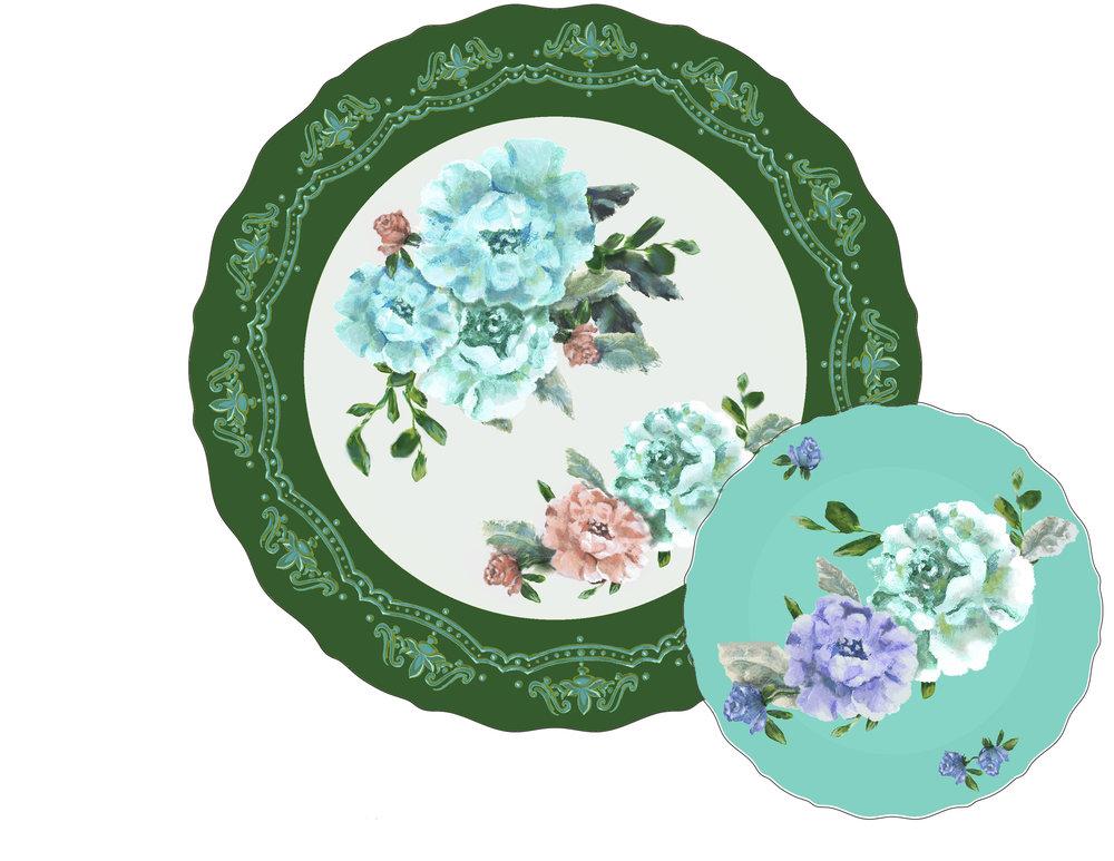 cottage rose plates dk grn.jpg