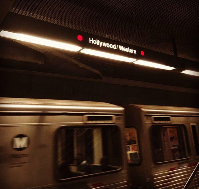 Pitihän se meidänkin käydä koeajolla. On tää kyllä huikee juttu. #vihdoinkin #länsimetro #western #hollywood # subway #iwanttobelieve #metro #lossantos #losangeles #espoo #compton