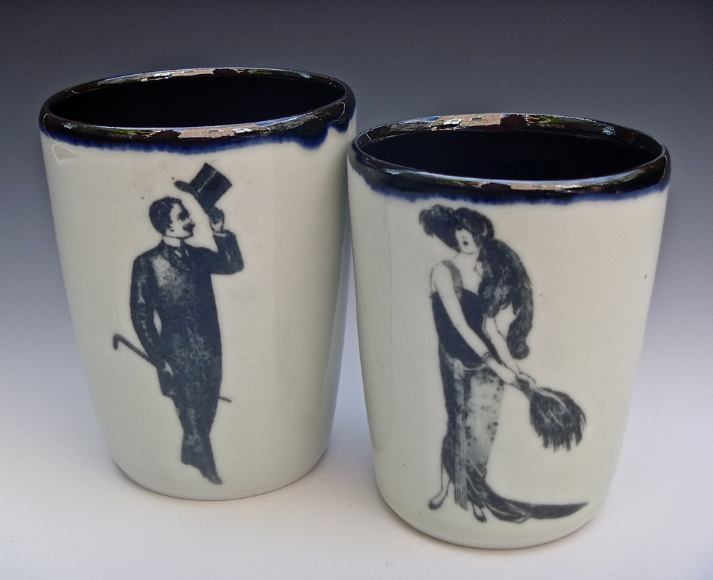 Dapper Gentleman & French Lady Tumblers