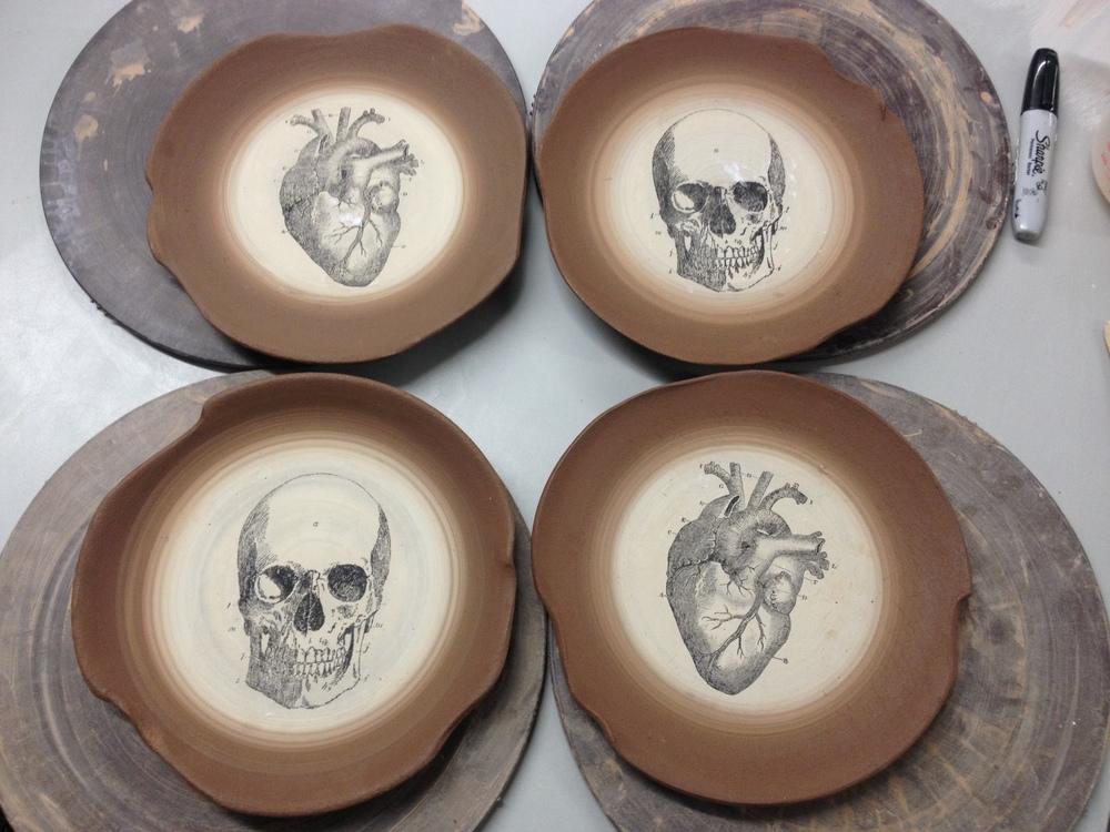Skull and Heart Plates