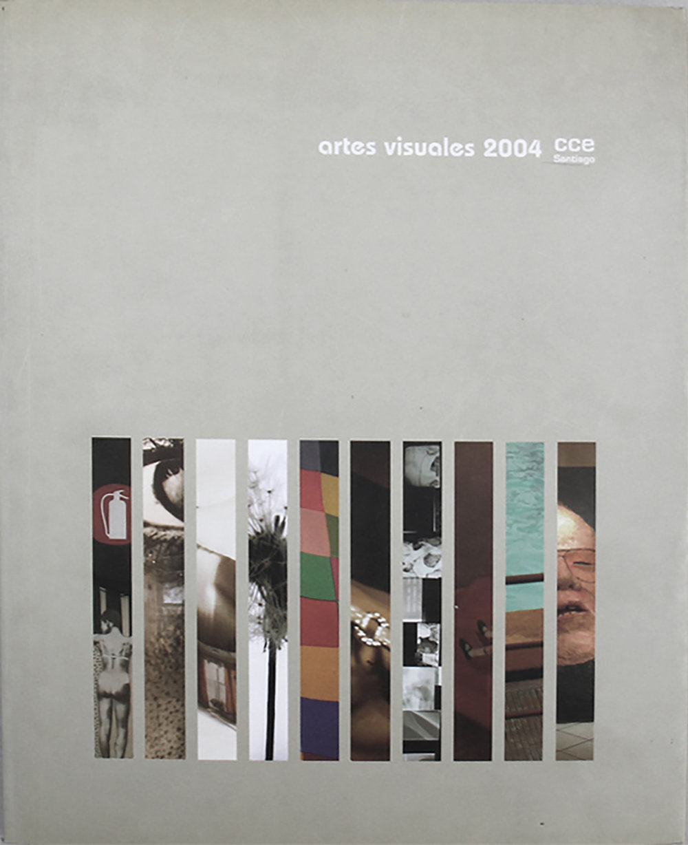 Artes Visuales, CCE Santiago (2004)  Authors: Guillermo Machuca, Carlos Navarrete, Ricardo Loebell and Voluspa Jarpa.  Editors: Natasha Pons and David Rodriguez  104 pages  Spanish  Softcover, 28 x 22 cm.  ISBN: 956-8519-01-7  Published by Centro Cultural de España en Santiago de Chile, CL