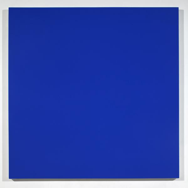 Rudolf de Crignis, Painting No. 99–14 (Cobalt Teal, Ultramarine Blue, Royal Blue), 1999