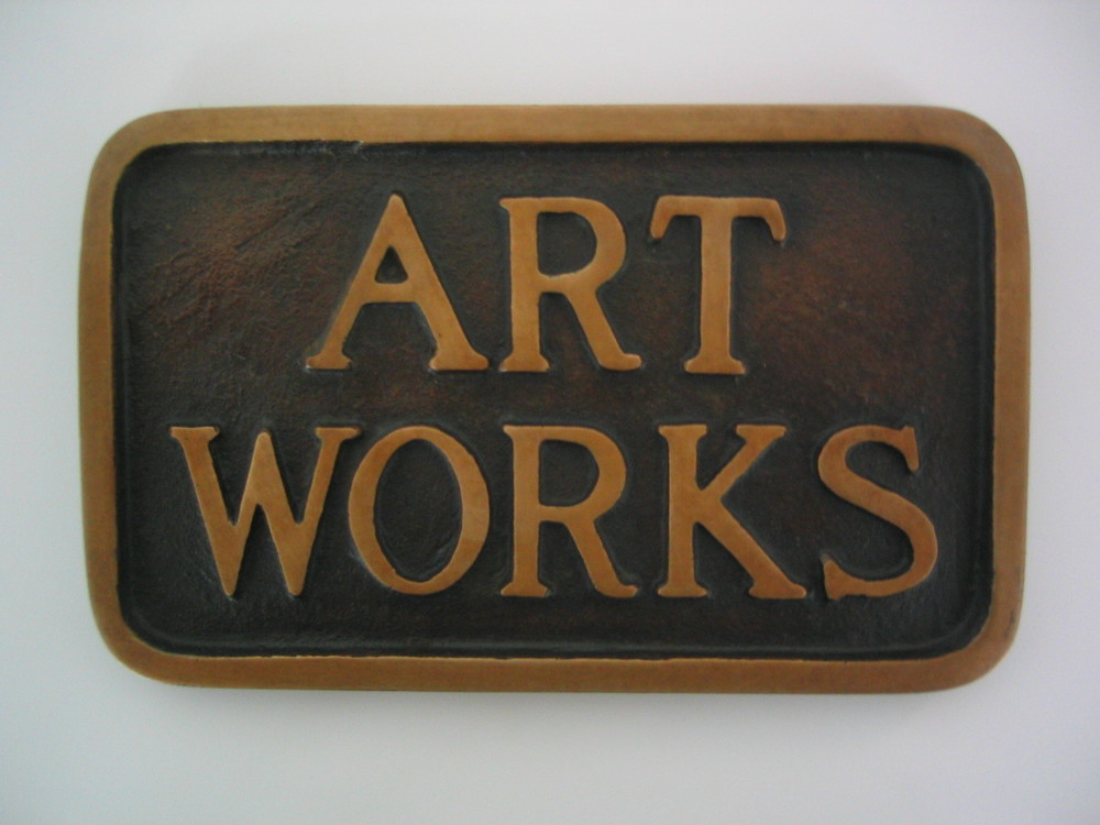 Stephen Kaltenbach, ART WORKS, 1968–2013, bronze, 4 7/8 x 8 x 1/2 inches, edition of 100