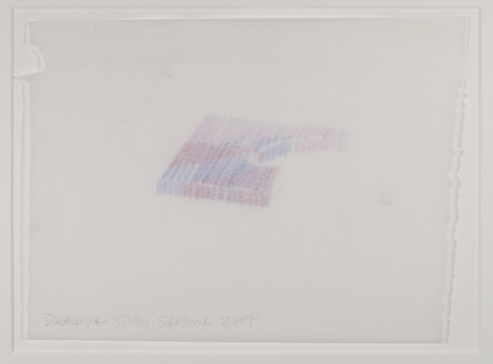 Max Neuhaus,  Drawing Study, Shading, Spatial Interlock, Three to One , 1992, Colored pencil on paper (4 sheets), 7 1/4 x 9 7/8 inches, MNE9208 (2 of 4)  Lawrence Markey Inc.