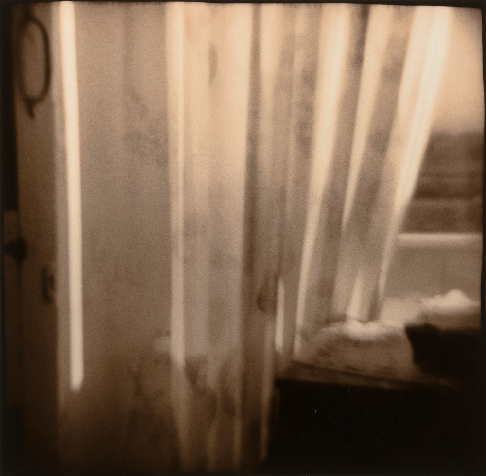 Nancy Rexroth,  Curtains, Pomeroy, Ohio , 1970, Vintage gelatin silver print, 4 x 4 inches, NRE7003  Lawrence Markey Inc.  1/8