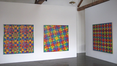 Karl Benjamin at Lawrence Markey 2008 installation view.jpg
