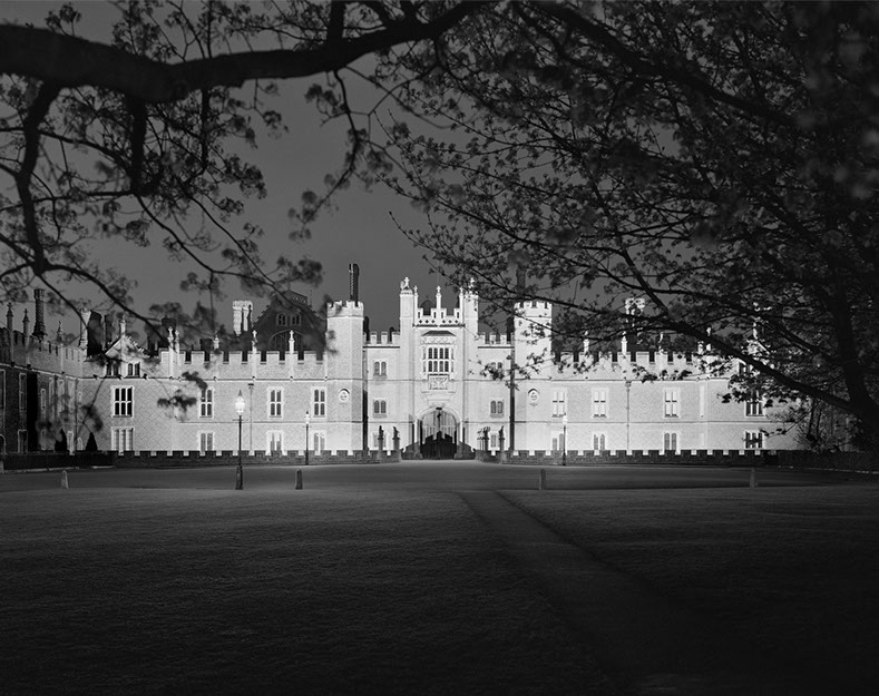 John Riddy,  Hampton Court, 2000, Silver gelatin print, 15 x 18 7/8 inches, JRI0040  6/9  Lawrence Markey Inc.