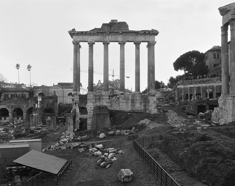 John Riddy,  Rome (Forum), 1999 , Silver gelatin print, 15 x 18 7/8 inches, JRI0033  9/9  Lawrence Markey Inc.