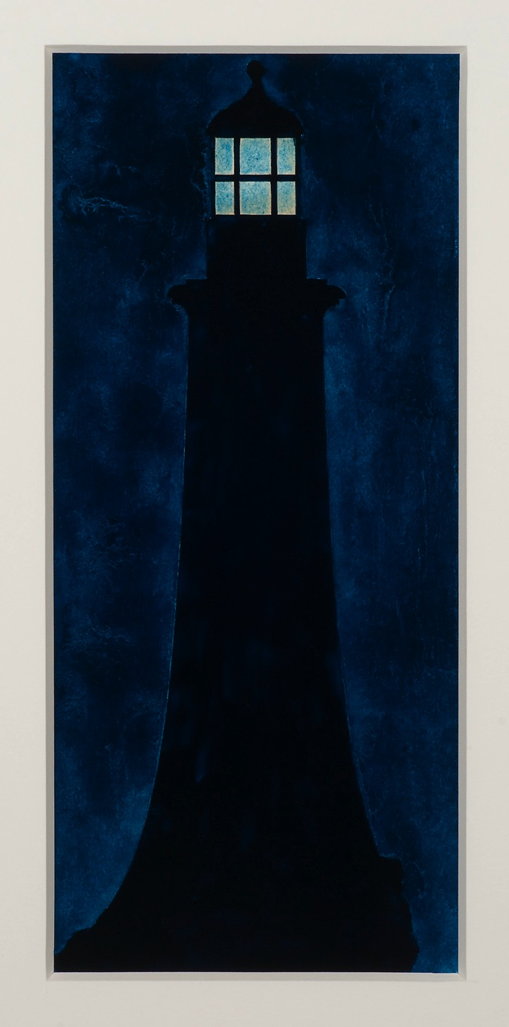 Robert Moskowitz,  Eddystone, 1990, Oil on paper, sheet: 14 x 11 inches, image: 9 1/2 x 4 1/4 inches, RMO9029  5/6  Lawrence Markey Inc.