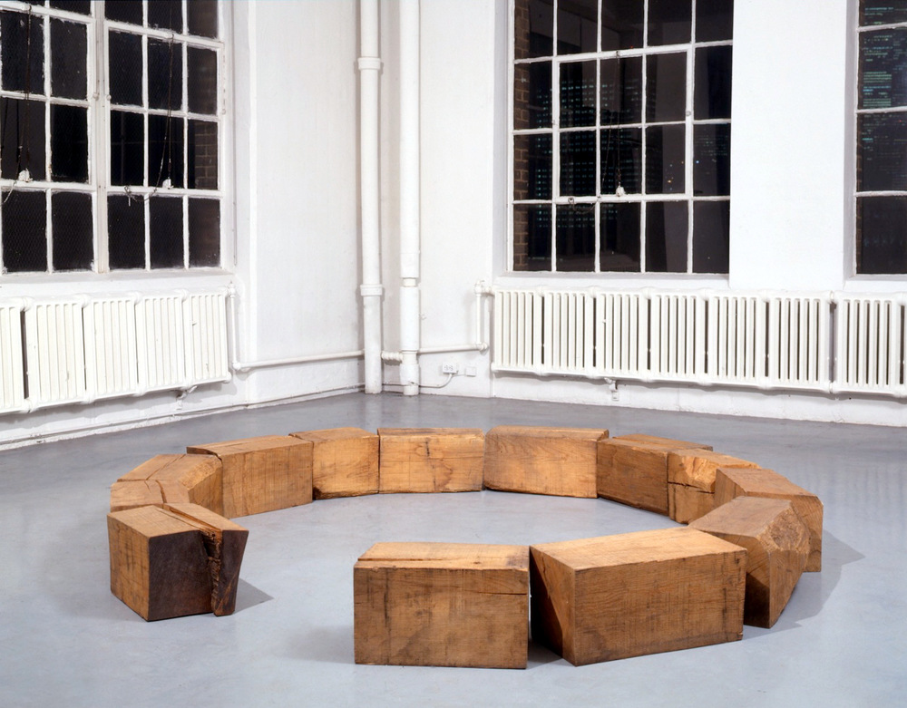 Richard Nonas at Lawrence Markey 1990-91 3.jpeg