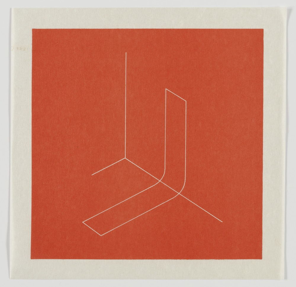 Fred Sandback, Untitled, 1979, Lithograph on Japanese paper, plate: 8 x 8, sheet: 9 1/2 x 9 1/2, FSA7905  Lawrence Markey Inc.  10/11