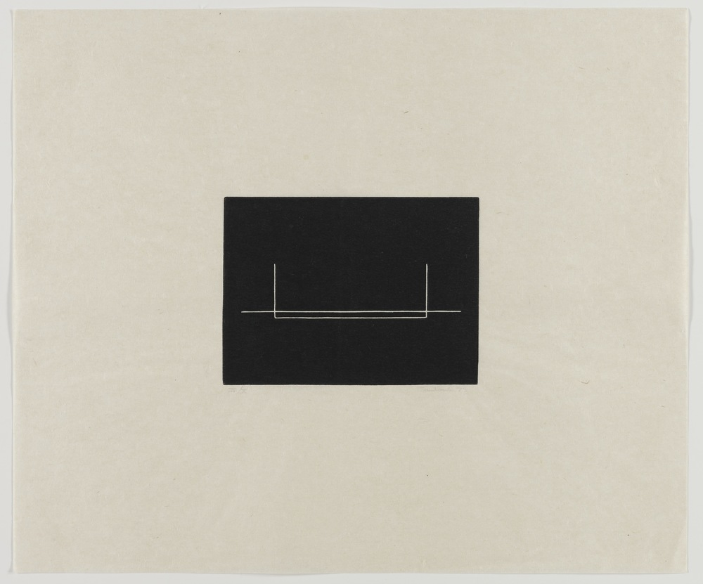 Fred Sandback, Untitled, 1975, Linocut on Japanese paper