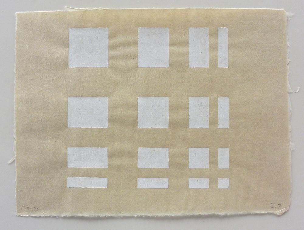 White 16 , 9 3/4 x 12 1/4 in.