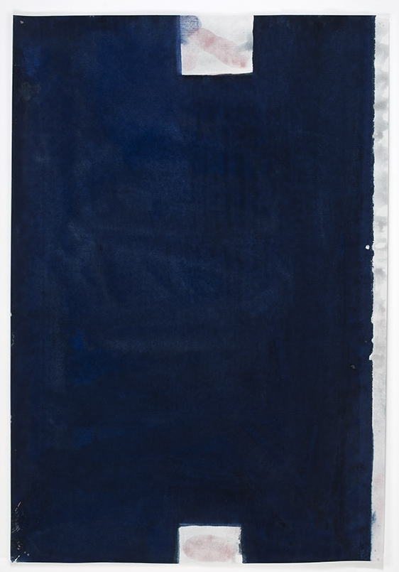 John Zurier, Untitled (Return), 2015, Watercolor on Korean paper, 13 11/16 x 9 3/8inches, JZU1518  1/6  Lawrence Markey Inc.
