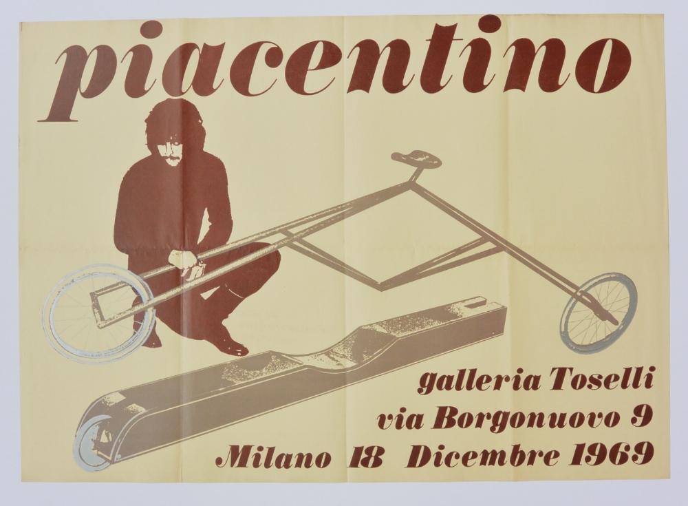 GIANNI PIACENTINO  December 18, 1969  Galleria Toselli, Milan