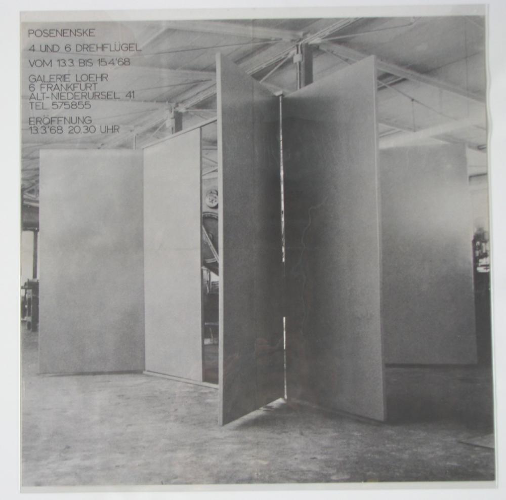 Charlotte POSENENSKE  March 13, 1968  1968  Galerie Loehr, Frankfurt