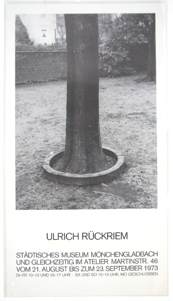 ULRICH RÜCKRIEM  August 21–September 23, 1973  Städtisches Museum, Mönchengladbach