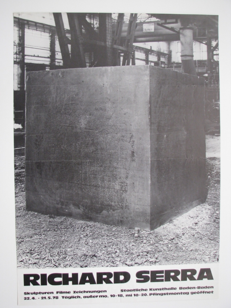 RICHARD SERRA  April 22–May 21, 1978  Staatliche Kunsthalle, Baden-Baden