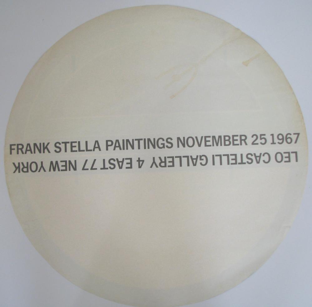 FRANK STELLA   Paintings   November 25 1967  Leo Castelli Gallery, NY  -verso