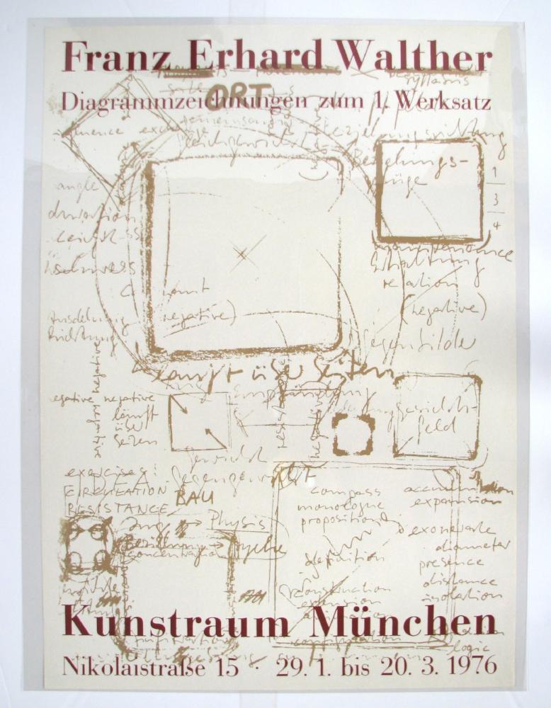 FRANZ ERHARD WALTHER  Diagrammzeichnungen...  January 29–March 20, 1976  Kunstraum München