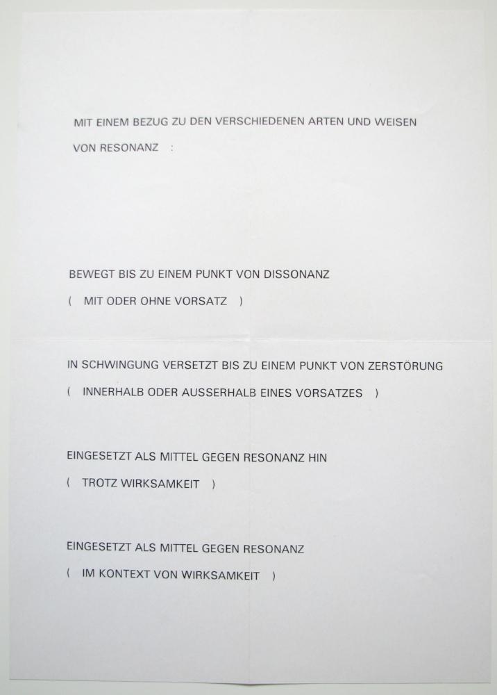 LAWRENCE WEINER  1974  Rolf Preisig Gallery, Basel