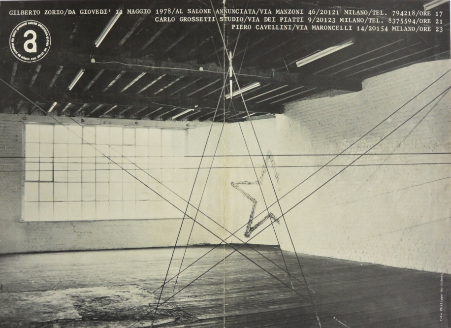 GILBERTO ZORIO  May 11, 1978  Salone Annuciato, Milan