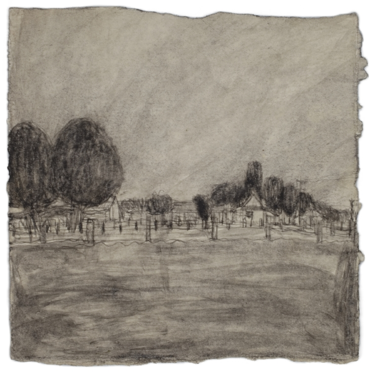 James Castle, Untitled (two sided drawing), Undated, Soot on paper, 7 3/4 x 7 3/4 inches, CAS11-0225  Lawrence Markey Inc.  1/6