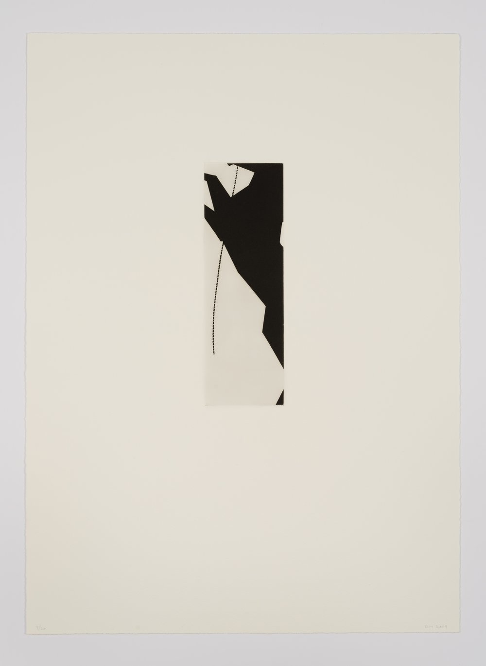 Robert Moskowitz, Untitled, 2009, Etching with aquatint, ed. 20, image: 7 7/8 x 2 9/16 inches, sheet: 19 1/2 x 14 inches, RMO0906  8/12  Lawrence Markey Inc.