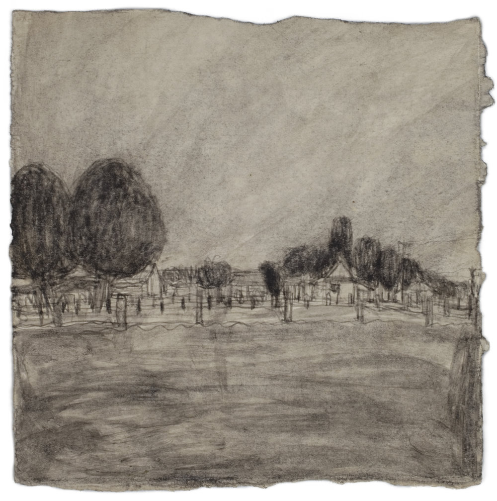 James Castle, Untitled (two sided drawing), Undated, Soot on paper, 7 3/4 x 7 3/4 inches, CAS11-0225 (recto)  Lawrence Markey Inc.  2/3