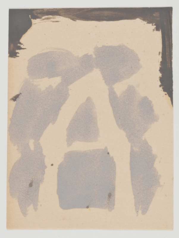 James Bishop, Untitled, ca. 1986, Oil on paper, 4 5/8 x 3 1/2 in. (11.7 x 8.9 cm), JBI8602  3/6  Lawrence Markey Inc.