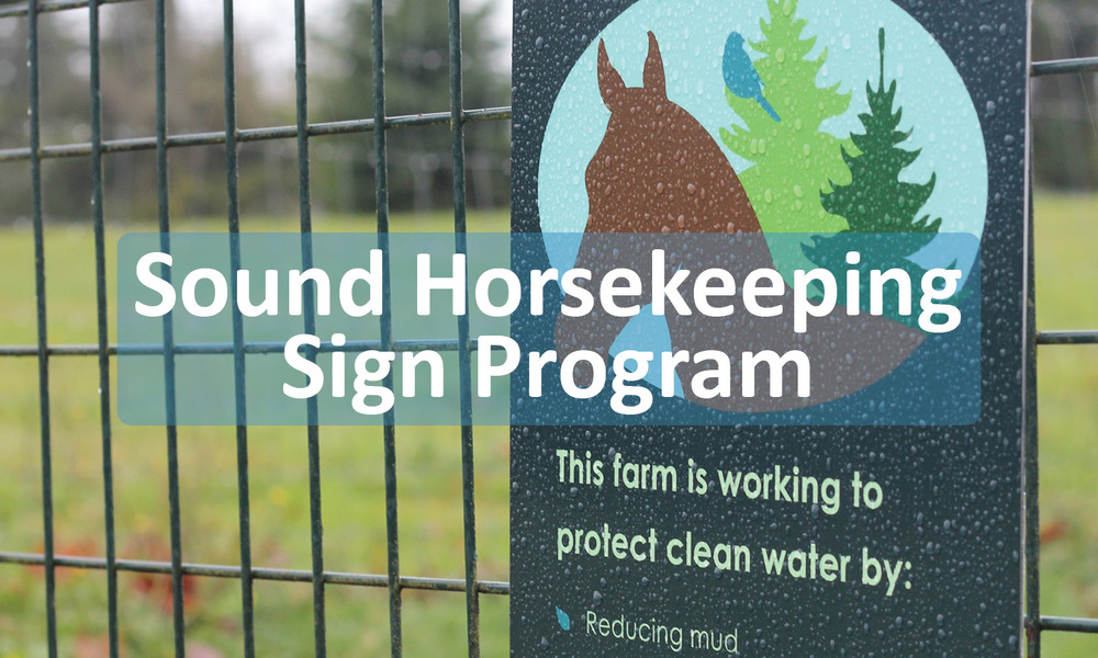 Sound Horsekeeping Sign program