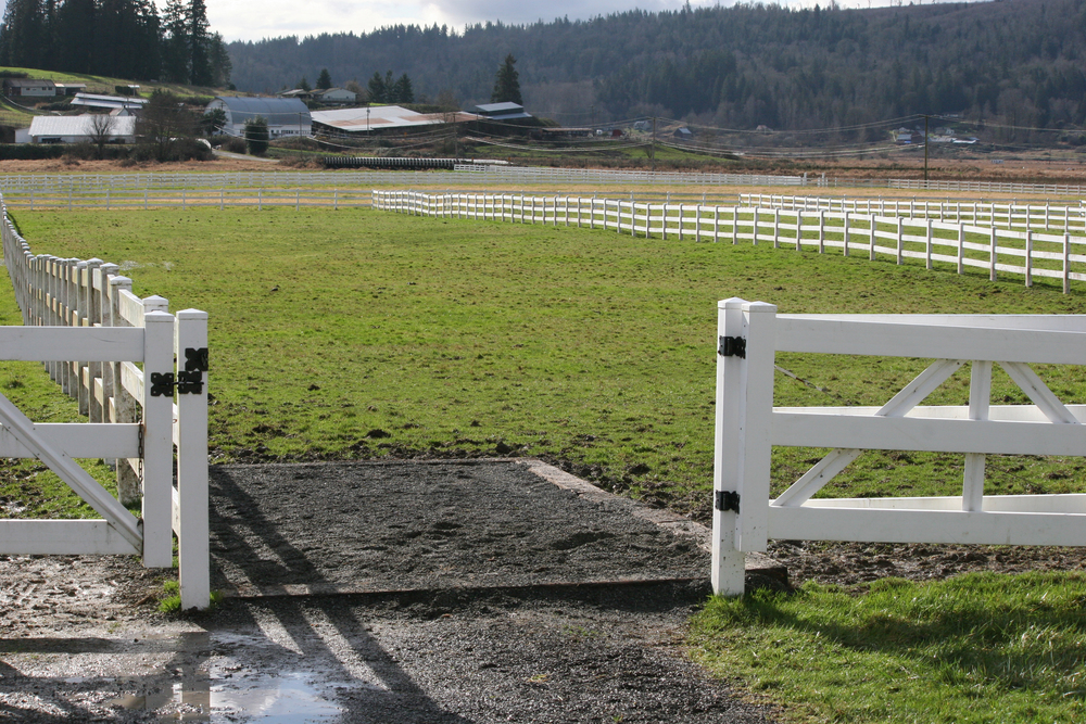 Pasture with entry footing