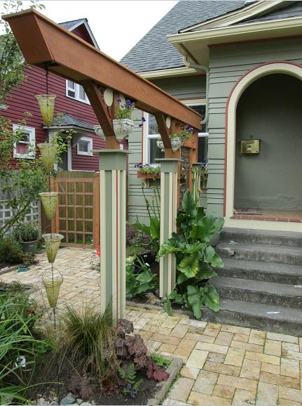 Figure 1: A Local Example of a Rain Garden with Arbor