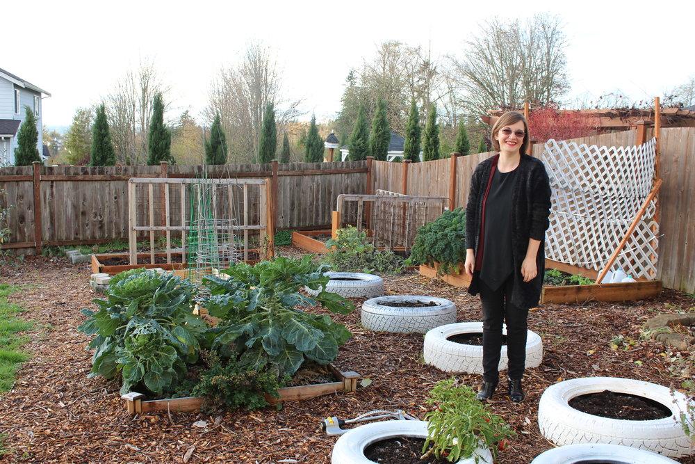 Terry Myer in her Lake Stevens garden