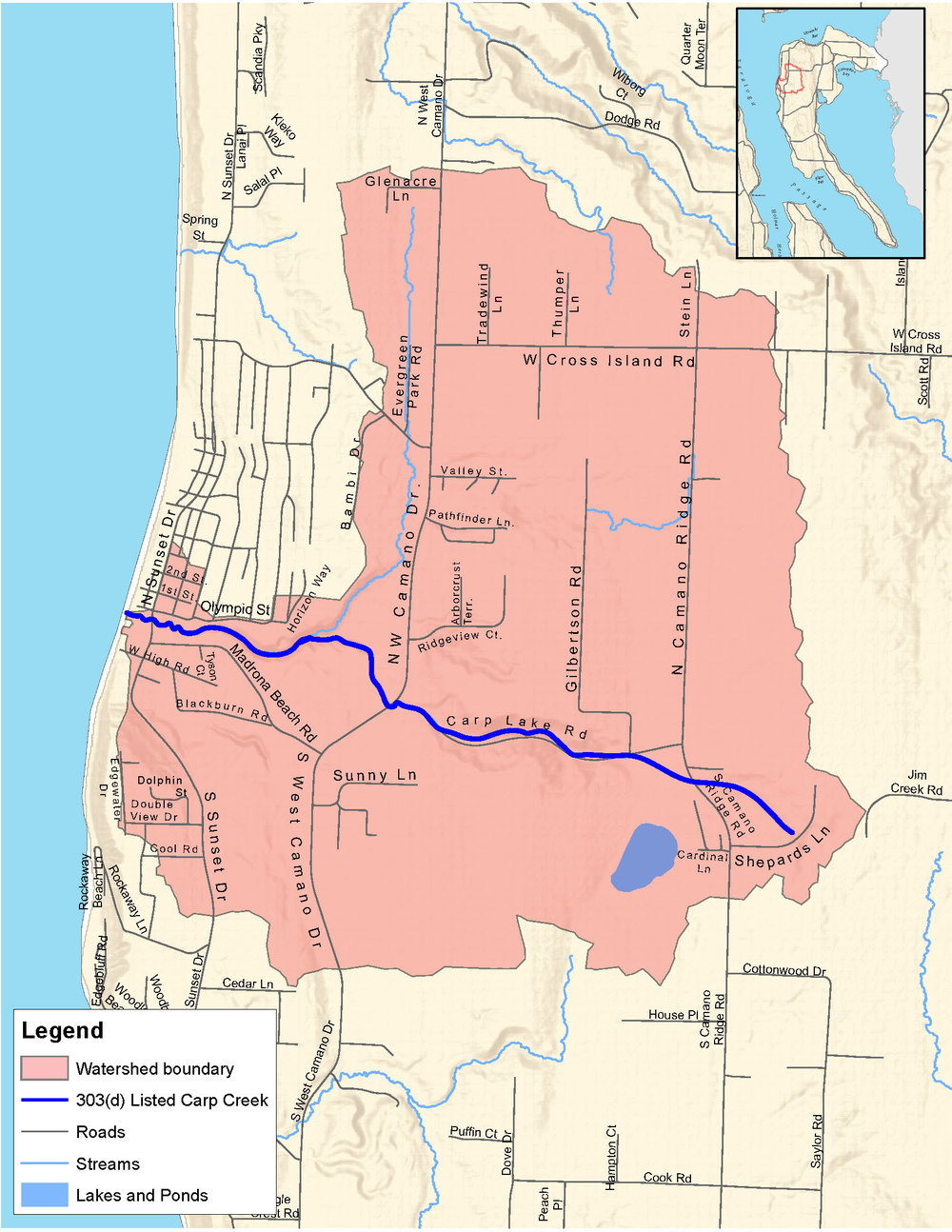 Map of the Carp Creek Watershed