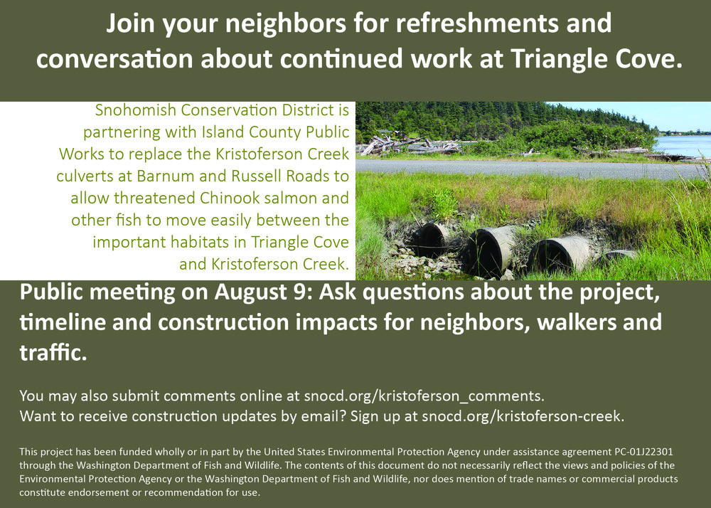 Join us from 6:00 p.m. to 7:30 p.m. on August 9th at the Camano Island Library.