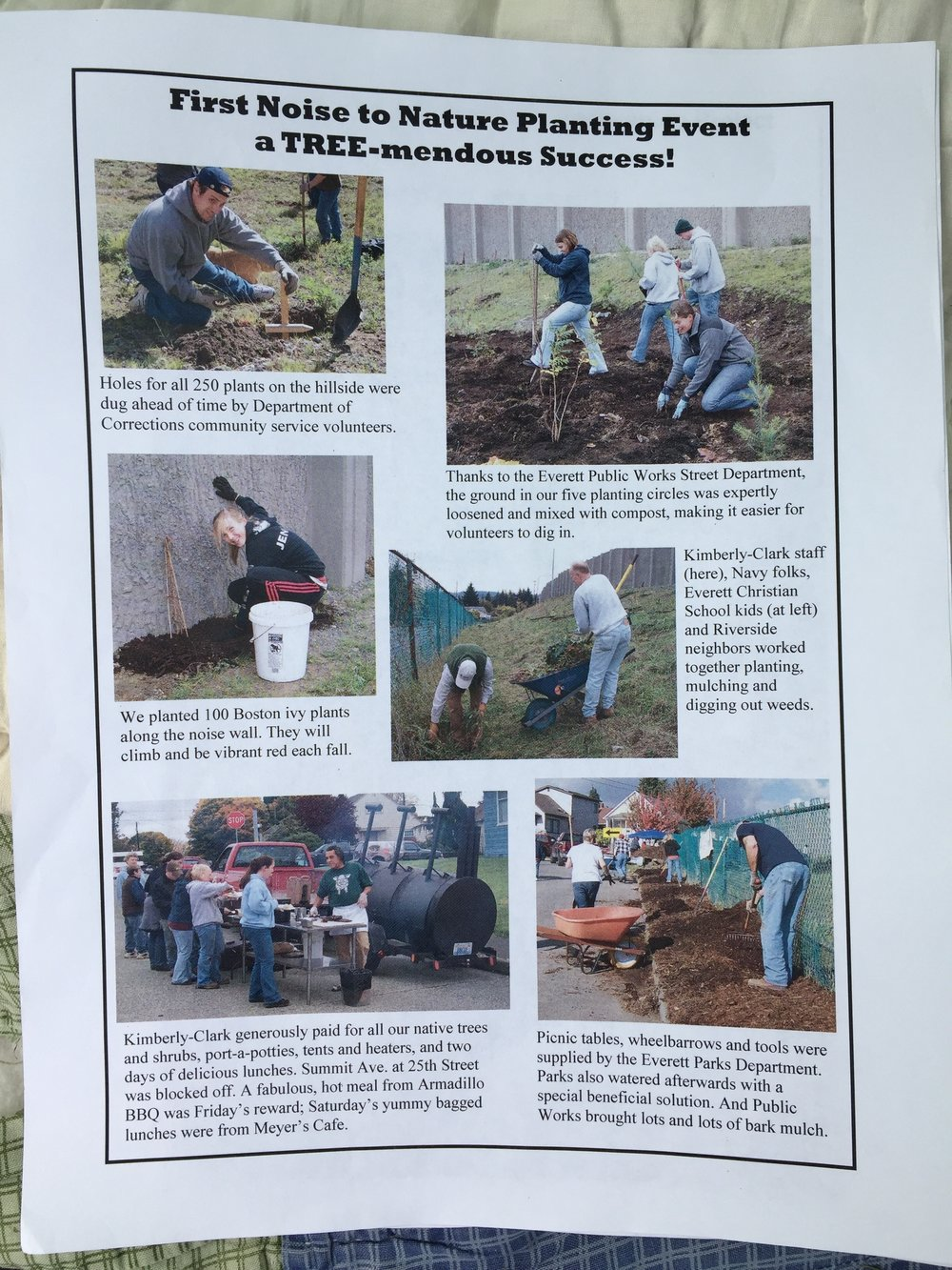 Photos from the volunteer events.