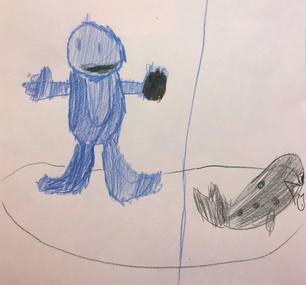 """""""C is for Cookie, S is for Salmon"""" """"C is for C(hin)ookie"""" """"Cookie Monster + cookies = Orcas + Chinook(ies)"""""""