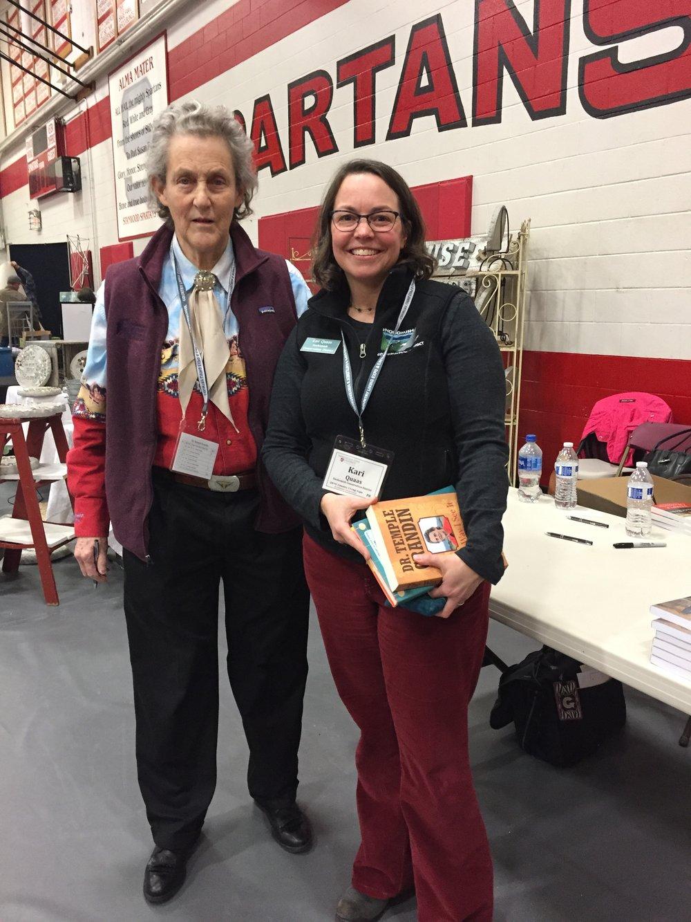 Dr. Temple Grandin with SCD staff member, Kari Quaas
