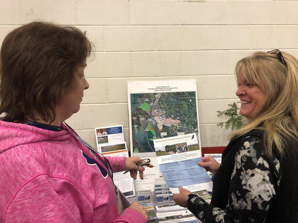 Resource Planner, Bobbi, talks to a landowner