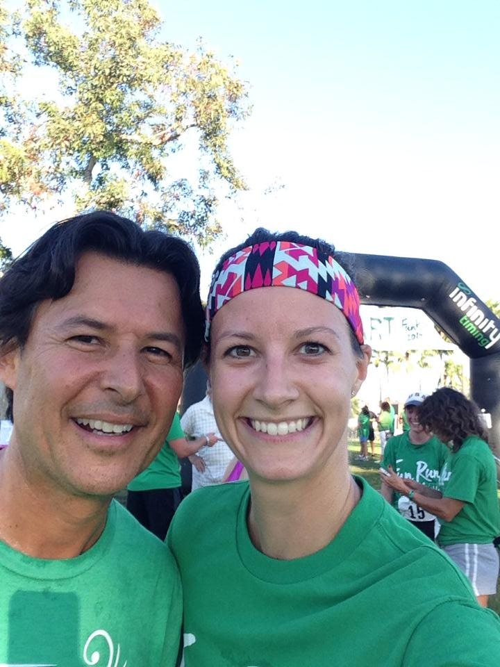 CEO, Roger Barnett with me at the Shaklee Cares Fun Run in Long Beach, CA