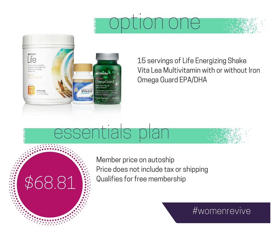 Option One: Essentials Plan