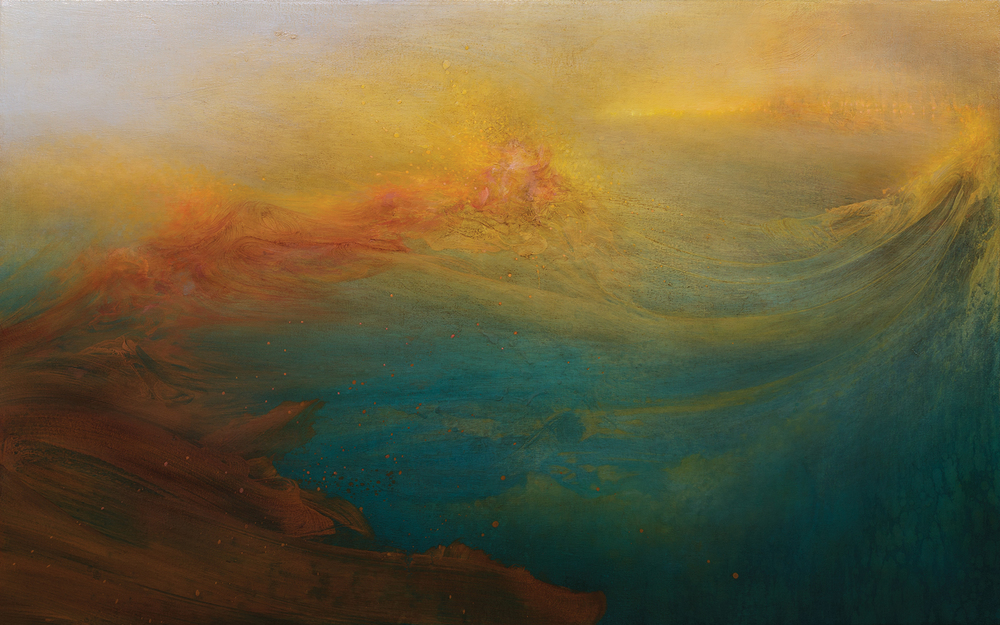 SURFACING 2013 OIL AND VARNISH ON CANVAS 30 X 48 INCHES