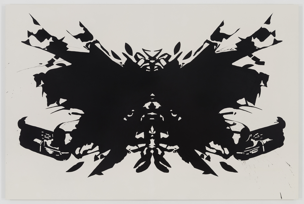 SELF PORTRAIT (INKBLOT)  2014 ACRYLIC ON PANEL 60 X 90 INCHES