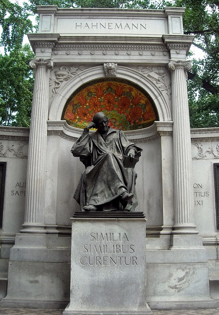 Monument to Samuel Hahnemann, the founder of Homeopathy, in Washington, DC.