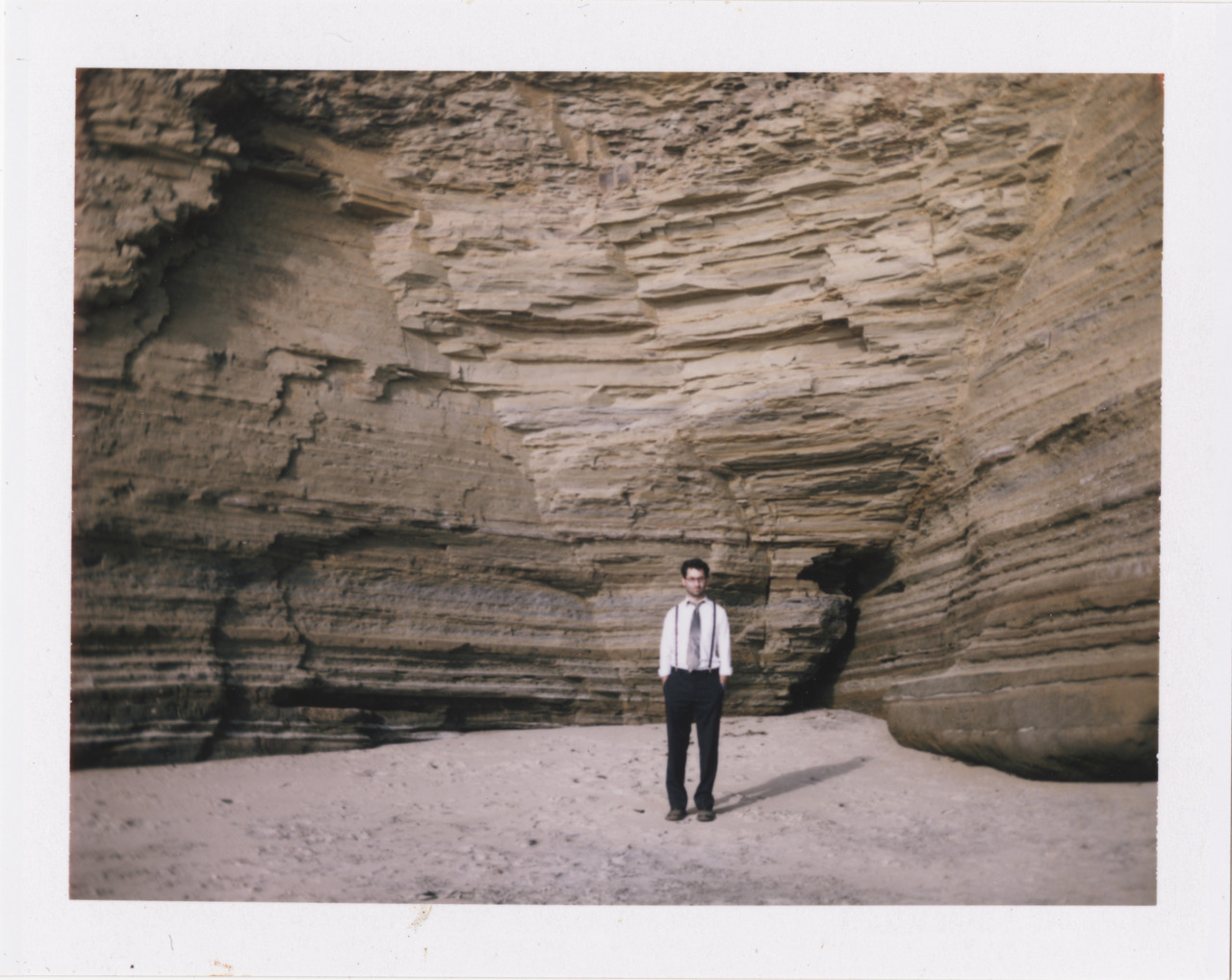 Derek at Sunset Cliffs // Polaroid // © July 2011