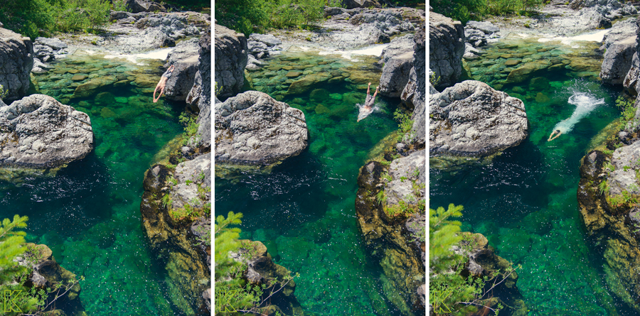 The High Dive // Opal Creek Rec. Area, OR // June 2014    I feel like I haven't mentioned how stupid gorgeous Oregon is in a while. So here you go. We went camping last weekend and spent our days jumping into crystal clear river pools and lounging on sun soaked rocks. It was an okay time.