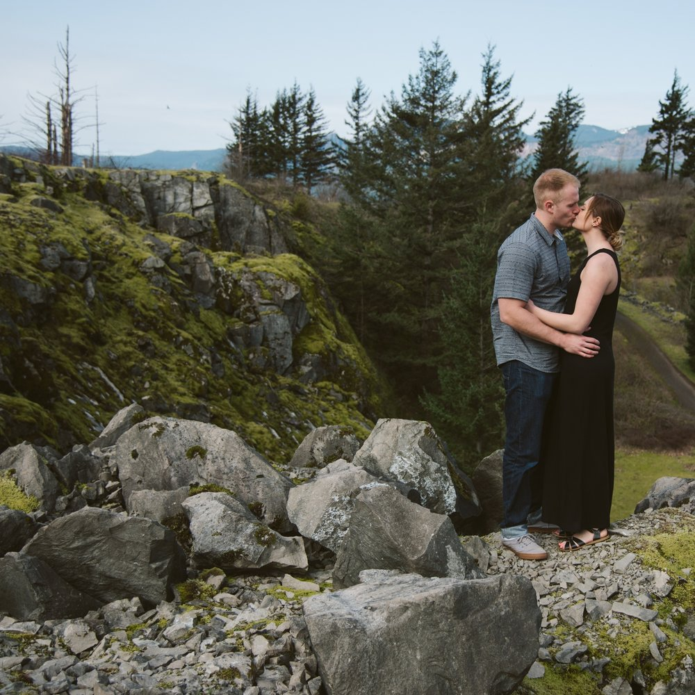 Kelly + Aaron: Columbia River Gorge Engagement